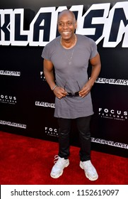 """LOS ANGELES, CA - August 08, 2018: Dave Chappelle at the Los Angeles premiere of """"BlacKkKlansman"""" at the Academy's Samuel Goldwyn Theatre, Beverly Hills"""
