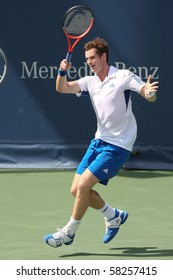 LOS ANGELES, CA. - AUGUST 1: Andy Murray of Great Britain (pictured) and Sam Querrey of USA play the final match at the 2010 Farmers Classic on August 1 2010 in Los Angeles.