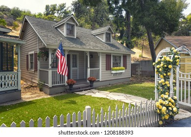 LOS ANGELES, CA: August 10, 2018: TV Set of Desperate Housewives with one house from Wisteria Lane, Universal Studios, Hollywood.