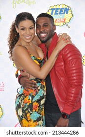 LOS ANGELES, CA - AUGUST 10, 2014: Jordin Sparks & Jason Derulo at the 2014 Teen Choice Awards at the Shrine Auditorium.
