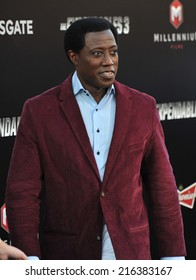 """LOS ANGELES, CA - AUGUST 11, 2014: Wesley Snipes at the Los Angeles premiere of his movie """"The Expendables 3"""" at the TCL Chinese Theatre, Hollywood."""