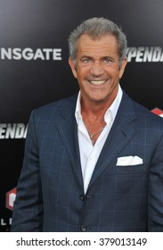 """LOS ANGELES, CA - AUGUST 11, 2014: Mel Gibson at the Los Angeles premiere of his movie """"The Expendables 3"""" at the TCL Chinese Theatre, Hollywood."""