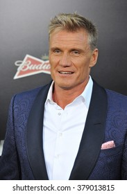 "LOS ANGELES, CA - AUGUST 11, 2014: Dolph Lundgren at the Los Angeles premiere of his movie ""The Expendables 3"" at the TCL Chinese Theatre, Hollywood."