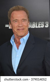 """LOS ANGELES, CA - AUGUST 11, 2014: Arnold Schwarzenegger at the Los Angeles premiere of his movie """"The Expendables 3"""" at the TCL Chinese Theatre, Hollywood."""