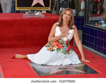 LOS ANGELES, CA. August 11, 2016: Roma Downey at Hollywood Walk of Fame Star ceremony for actress Roma Downey.