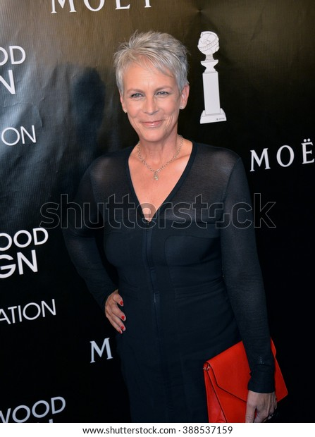 LOS ANGELES, CA - AUGUST 13, 2015: Jamie Lee Curtis at the Hollywood Foreign Press Association's Grants Banquet at the Beverly Wilshire Hotel.