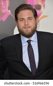 "LOS ANGELES, CA. August 15, 2016: Actor Jonah Hill at the Los Angeles premiere of ""War Dogs"" at the TCL Chinese Theatre, Hollywood."