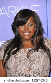 """LOS ANGELES, CA - AUGUST 16, 2012: Glee star Amber Riley at the world premiere of  """"Sparkle"""" at Grauman's Chinese Theatre, Hollywood."""