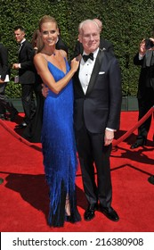 LOS ANGELES, CA - AUGUST 16, 2014: Heidi Klum & Tim Gunn at the 2014 Creative Arts Emmy Awards at the Nokia Theatre LA Live.