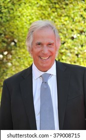 LOS ANGELES, CA - AUGUST 16, 2014: Henry Winkler at the 2014 Creative Arts Emmy Awards at the Nokia Theatre LA Live.