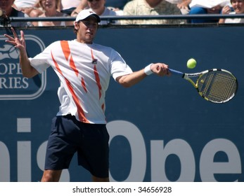 LOS ANGELES, CA. - AUGUST 2: Sam Querrey and Carsten Ball (pictured) play in the mens finals of the L.A. Tennis Open August 2, 2009 in Los Angeles.