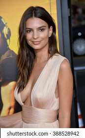 """LOS ANGELES, CA - AUGUST 20, 2015: Emily Ratajkowski at the Los Angeles premiere of her movie """"We Are Your Friends"""" at the TCL Chinese Theatre, Hollywood. Los Angeles."""