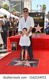LOS ANGELES, CA. August 22, 2018: Simon Cowell & Eric Cowell at the Hollywood Walk of Fame Star Ceremony honoring Simon Cowell.