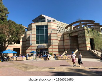 Los Angeles, CA: August 23, 2018:  UCLA bookstore on the UCLA campus. UCLA is a public university in the Los Angeles area with 30,873 undergraduates and 12,675 graduate students.