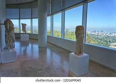 LOS ANGELES, CA - August 23, 2018: Inside the art galleries of the Getty Museum.