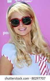 LOS ANGELES, CA - AUGUST 23: Actress and designer Paris Hilton attends the launch of 'The Bandit' hair extension headband on August 23, 2008 in Malibu, California