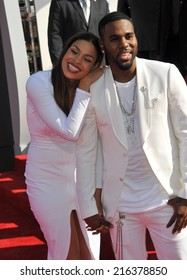 LOS ANGELES, CA - AUGUST 24, 2014: Jordin Sparks & Jason Derulo at the 2014 MTV Video Music Awards at the Forum, Los Angeles.