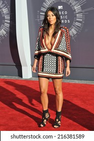 LOS ANGELES, CA - AUGUST 24, 2014: Kim Kardashian at the 2014 MTV Video Music Awards at the Forum, Los Angeles.