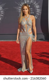 LOS ANGELES, CA - AUGUST 24, 2014: Jennifer Lopez at the 2014 MTV Video Music Awards at the Forum, Los Angeles.