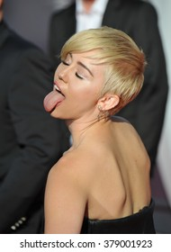 LOS ANGELES, CA - AUGUST 24, 2014: Miley Cyrus at the 2014 MTV Video Music Awards at the Forum, Los Angeles.