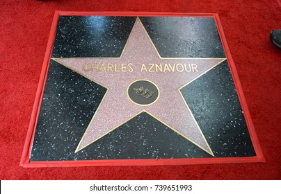 LOS ANGELES, CA. August 24, 2017: Charles Aznavour at the the Hollywood Walk of Fame star ceremony honoring French singer Charles Aznavour on Hollywood Boulevard