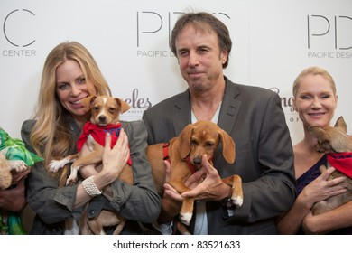 LOS ANGELES, CA - AUGUST 24: Kristin Bauer van Straten, Kevin Nealon & Tara Buck arrive for the 2nd Annual 'Patterns for Paws' event held at the Pacific design centre on August 24, 2011. Los Angeles