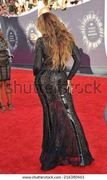LOS ANGELES, CA - AUGUST 24, 2014: Beyonce Knowles at the 2014 MTV Video Music Awards at the Forum, Los Angeles.