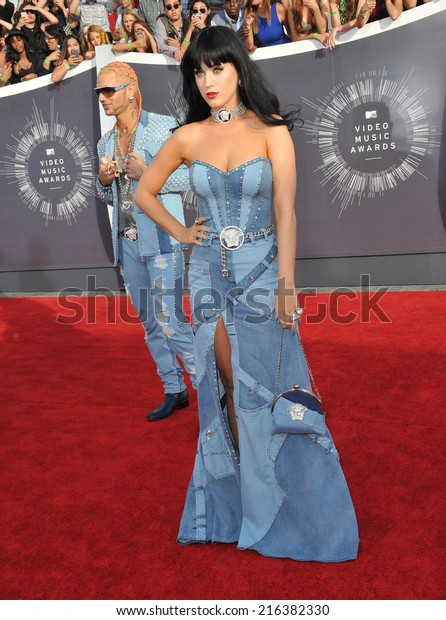 LOS ANGELES, CA - AUGUST 24, 2014: Katy Perry at the 2014 MTV Video Music Awards at the Forum, Los Angeles.