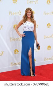 LOS ANGELES, CA - AUGUST 25, 2014: Anna Gunn at the 66th Primetime Emmy Awards at the Nokia Theatre L.A. Live downtown Los Angeles.