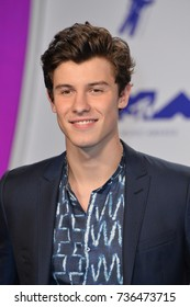 "LOS ANGELES, CA - August 27, 2017: Shawn Mendes at the 2017 MTV Video Music Awards at The ""Fabulous"" Forum"