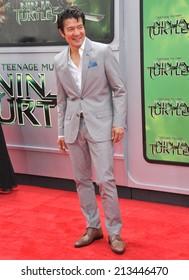 "LOS ANGELES, CA - AUGUST 3, 2014: Tohoru Masamune at the premiere of his movie ""Teenage Mutant Ninja Turtles"" at the Regency Village Theatre, Westwood."