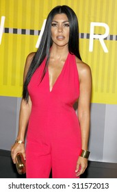 LOS ANGELES, CA - AUGUST 30, 2015: Kourtney Kardashian at the 2015 MTV Video Music Awards held at the Microsoft Theater in Los Angeles, USA on August 30, 2015.