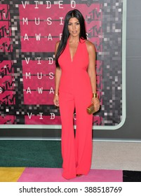 LOS ANGELES, CA - AUGUST 30, 2015: Kourtney Kardashian at the 2015 MTV Video Music Awards at the Microsoft Theatre LA Live.