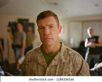 Los Angeles, CA - August 6th 2018: Nate Boyer -- ex-Green Beret who inspired Colin Kaepernick to kneel instead of sit during the anthem