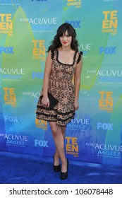 LOS ANGELES, CA - AUGUST 7, 2011: Zooey Deschanel arrives at the 2011 Teen Choice Awards at the Gibson Amphitheatre, Universal Studios, Hollywood. August 7, 2011  Los Angeles, CA