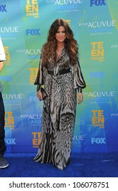 LOS ANGELES, CA - AUGUST 7, 2011: Khloe Kardashian at the 2011 Teen Choice Awards at the Gibson Amphitheatre, Universal Studios, Hollywood. August 7, 2011  Los Angeles, CA