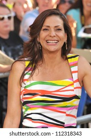 "LOS ANGELES, CA - AUGUST 7, 2012: Constance Marie at the world premiere of ""The Odd Life of Timothy Green"" at the El Capitan Theatre, Hollywood."