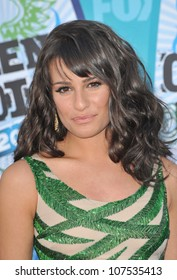 LOS ANGELES, CA - AUGUST 8, 2010: Lea Michele at the 2010 Teen Choice Awards at the Gibson Amphitheatre, Universal Studios, Hollywood.