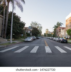 Los Angeles, CA: August 9, 2019:  Traffic and urban life in Los Angeles, which is the second most populous city in the United States.   The city of Los Angeles has a population of 3.7 million people.