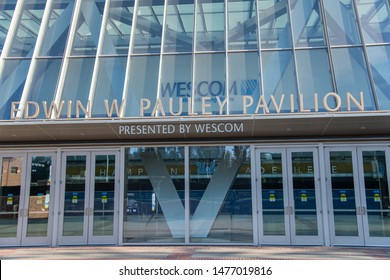 Los Angeles, CA:  August 9, 2019:  Exterior of Pauley Pavilion on the UCLA campus. Pauley Pavilion was opened in 1965.