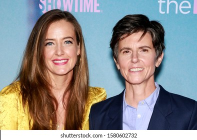 """Los Angeles, CA - December 02, 2019: Tig Notaro and Stephanie Allynne attend the premiere of Showtime's """"The L Word: Generation Q"""" at the Regal LA Live"""