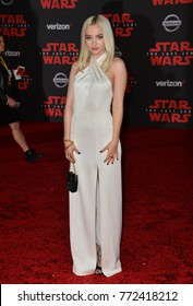 "LOS ANGELES, CA. December 09, 2017: Dove Cameron at the world premiere for ""Star Wars: The Last Jedi"" at The Shrine Auditorium
