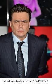 """LOS ANGELES, CA. December 09, 2017: Benicio del Toro at the world premiere for """"Star Wars: The Last Jedi"""" at The Shrine AuditoriumPicture: Jaguar"""
