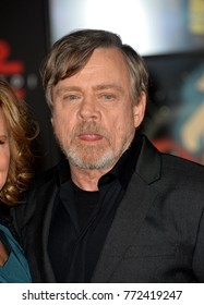 "LOS ANGELES, CA. December 09, 2017: Mark Hamill at the world premiere for ""Star Wars: The Last Jedi"" at The Shrine Auditorium