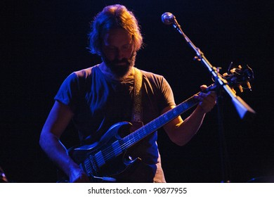 LOS ANGELES, CA - DECEMBER 09: Neal Casal of Chris Robinson Brotherhood perform at the El Rey Theatre on December 9, 2011 in Los Angeles, CA.