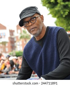 LOS ANGELES, CA - DECEMBER 1, 2014: Samuel L. Jackson at Hollywood Walk of Fame ceremony honoring Christoph Waltz with the 2,536th star on the Walk of Fame.
