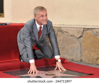 LOS ANGELES, CA - DECEMBER 1, 2014: Christoph Waltz at Hollywood Walk of Fame ceremony honoring Christoph Waltz with the 2,536th star on the Walk of Fame.