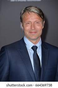 """LOS ANGELES, CA - DECEMBER 10, 2016: Actor Mads Mikkelsen at the world premiere of """"Rogue One: A Star Wars Story"""" at The Pantages Theatre, Hollywood."""