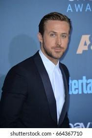 LOS ANGELES, CA - DECEMBER 11, 2016: Ryan Gosling at the 22nd Annual Critics' Choice Awards at Barker Hangar, Santa Monica Airport.