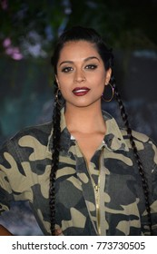 "LOS ANGELES, CA. December 11, 2017: Lilly Singh at the Los Angeles premiere of ""Jumanji: Welcome To the Jungle"" at the TCL Chinese Theatre, Hollywood"